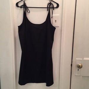 NWT!! Black Tie Shoulder Slip Dress